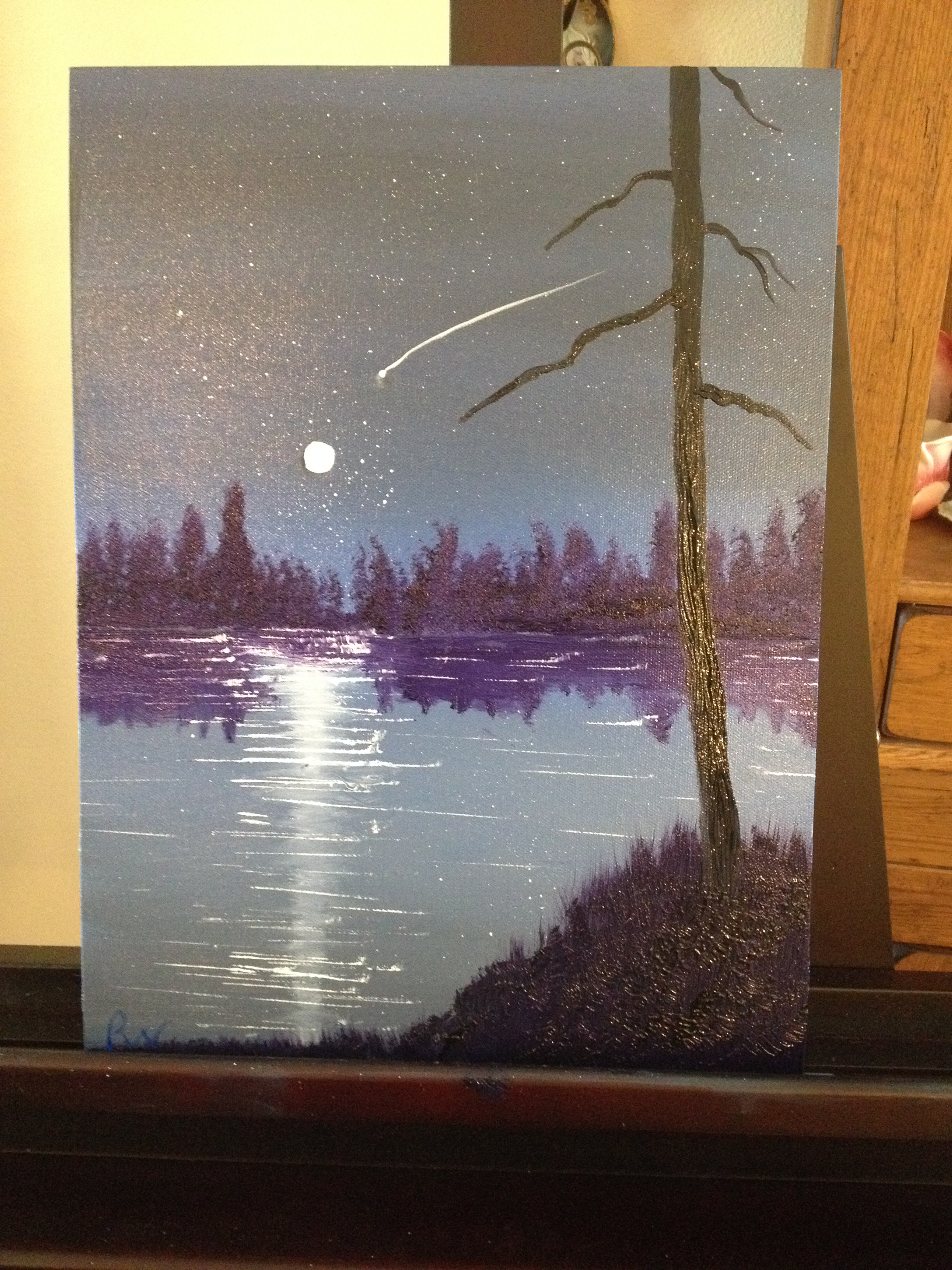 "My 2nd painting was based on Wilson Bickford's ""Shooting Star"""